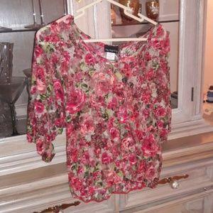 Tops - Off Shoulder Floral Lace Top